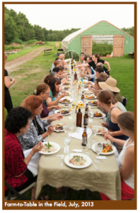 ONCE Farm to Table dinner at Fat Moon Farm in Westford MA @ Fat Moon Farm | Westford | Massachusetts | United States