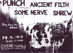 Punch (CA), Ancient Filth, Some Nerve, Shrew @ Cuisine en Locale | Somerville | Massachusetts | United States