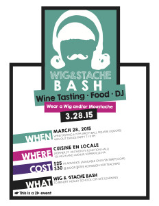 Healy School Benefit- Wig and Stash Bash @ Cuisine en Locale | Somerville | Massachusetts | United States