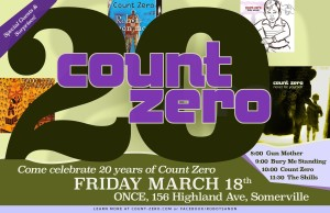 Count Zero 20th Anniversary Party featuring The Shills, Bury Me Standing, Gun Mother @ ONCE Ballroom | Somerville | Massachusetts | United States